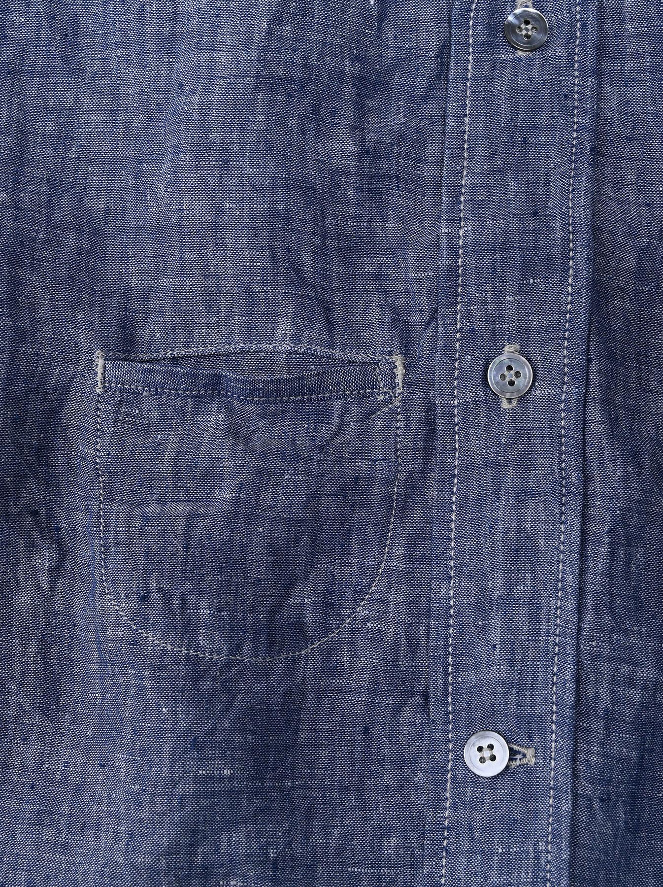 Indian Linen 908 Ocean Button Down Shirt (0421)-10