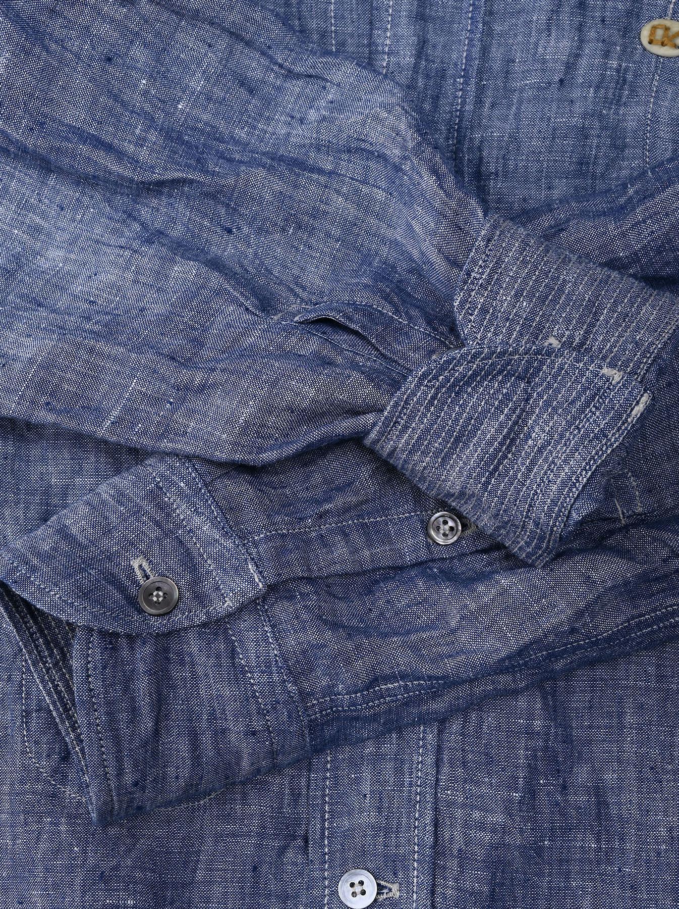 Indian Linen 908 Ocean Button Down Shirt (0421)-11
