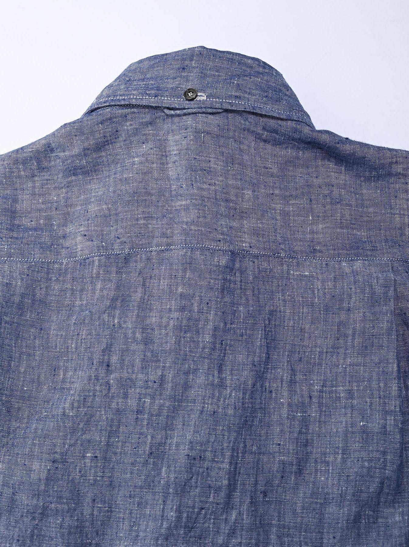 Indian Linen 908 Ocean Button Down Shirt (0421)-12