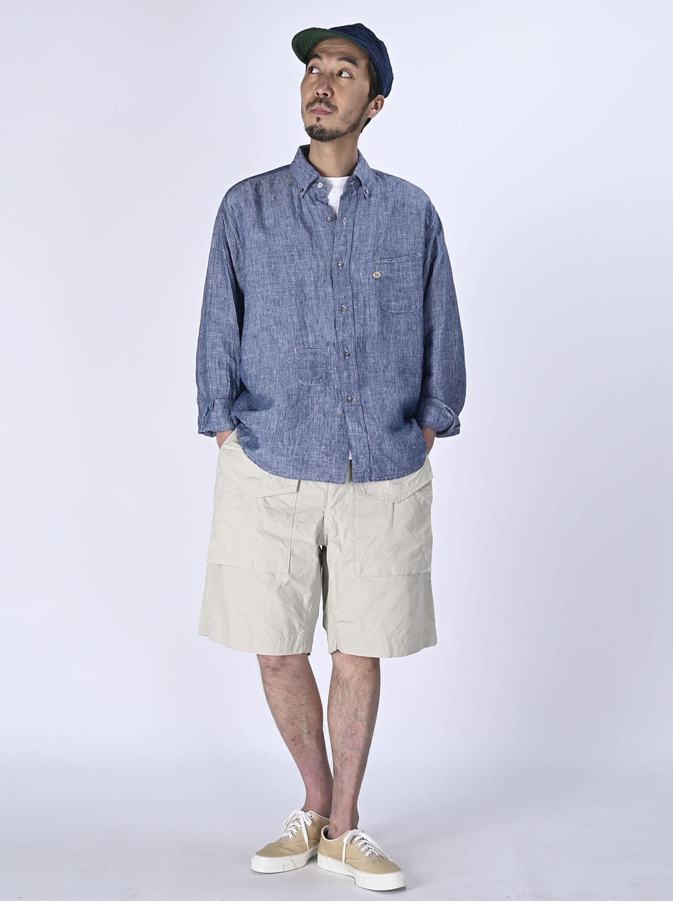Indian Linen 908 Ocean Button Down Shirt (0421)-2