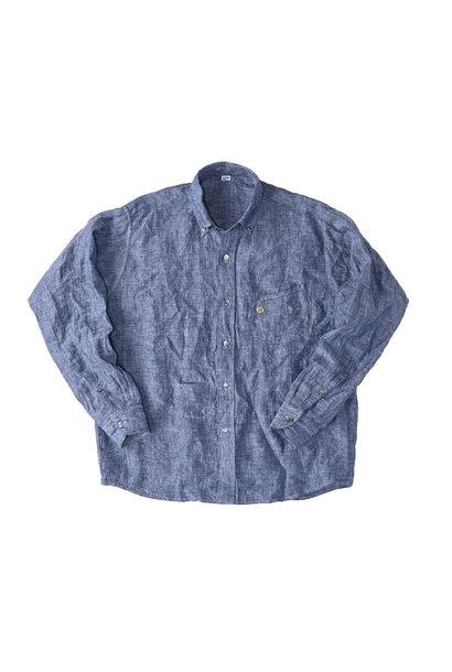 Indian Linen 908 Ocean Button Down Shirt (0421)