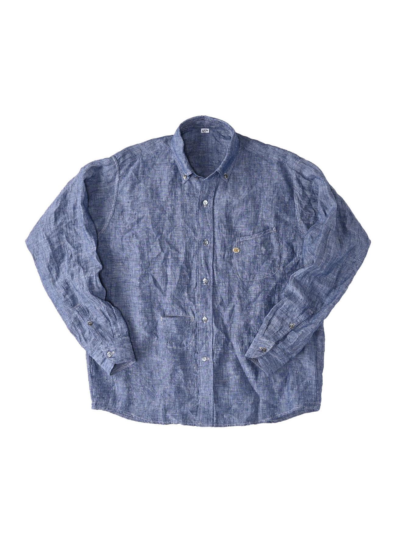 Indian Linen 908 Ocean Button Down Shirt (0421)-1