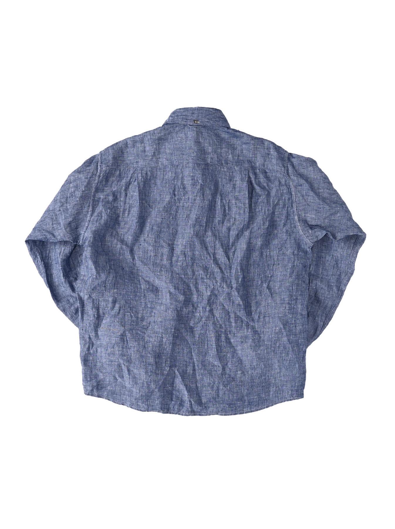Indian Linen 908 Ocean Button Down Shirt (0421)-6