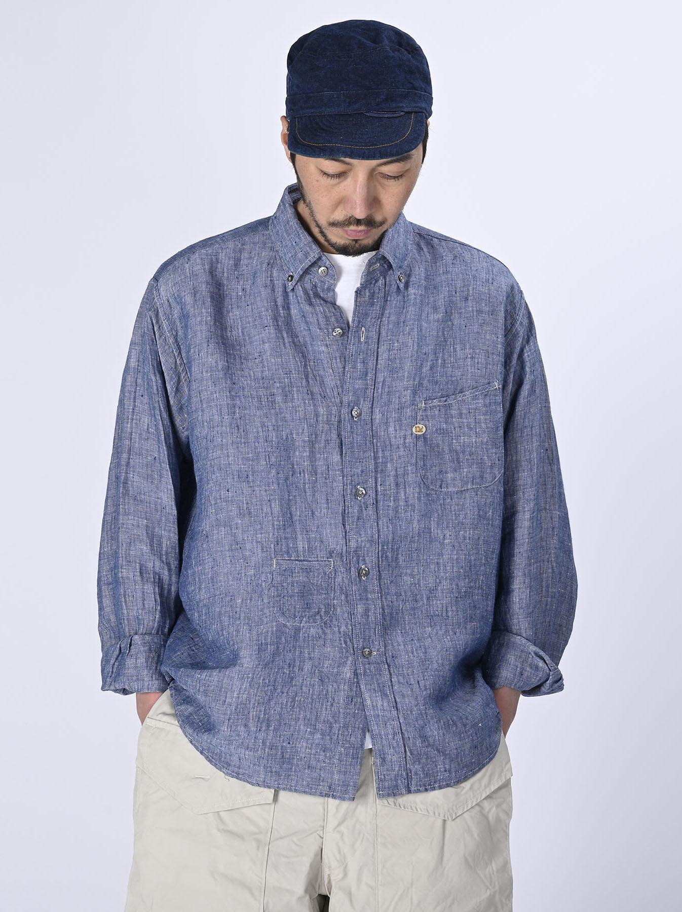 Indian Linen 908 Ocean Button Down Shirt (0421)-3