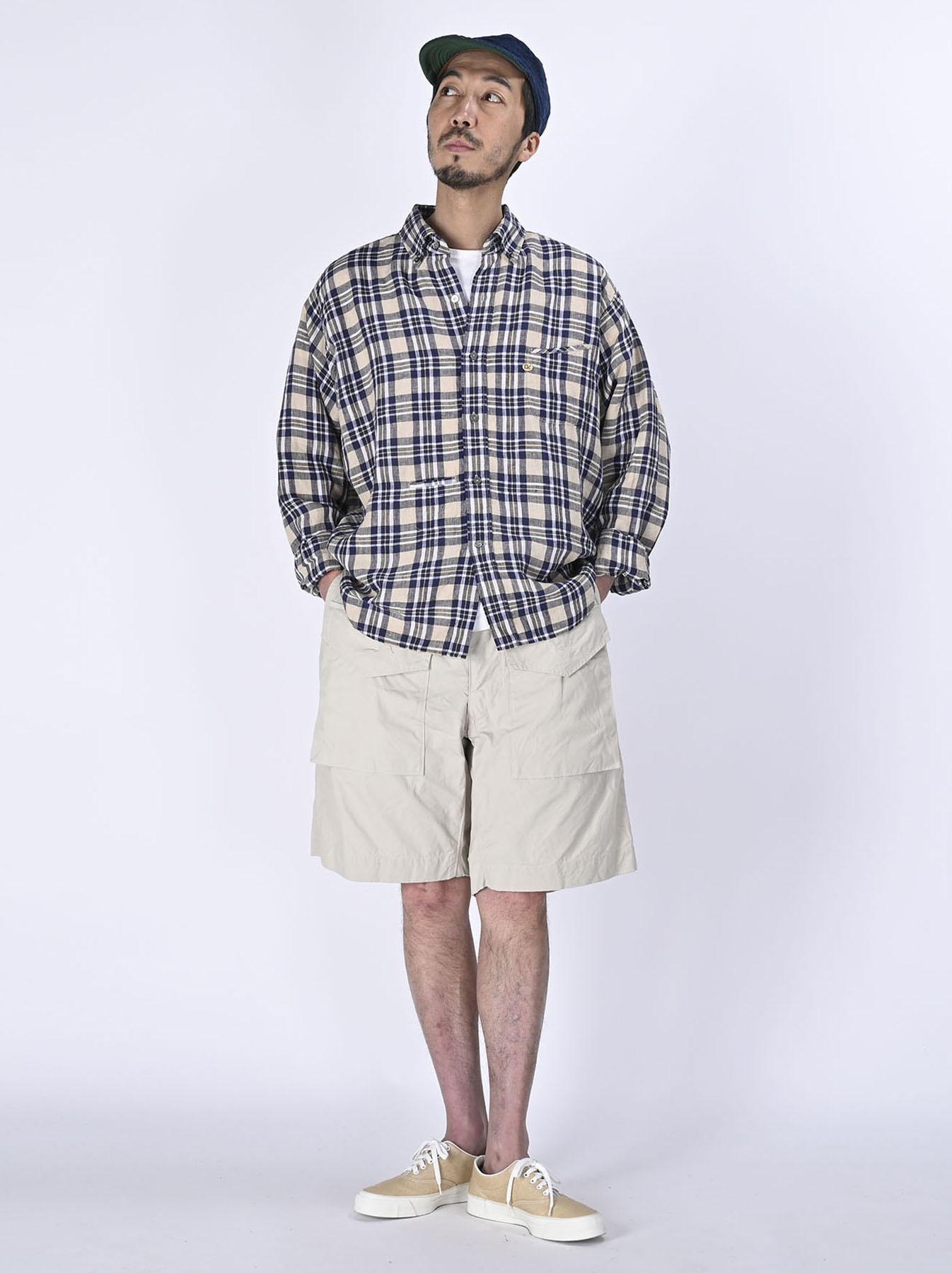 Indian Linen Madras 908 Ocean Button Down Shirt (0421)-2