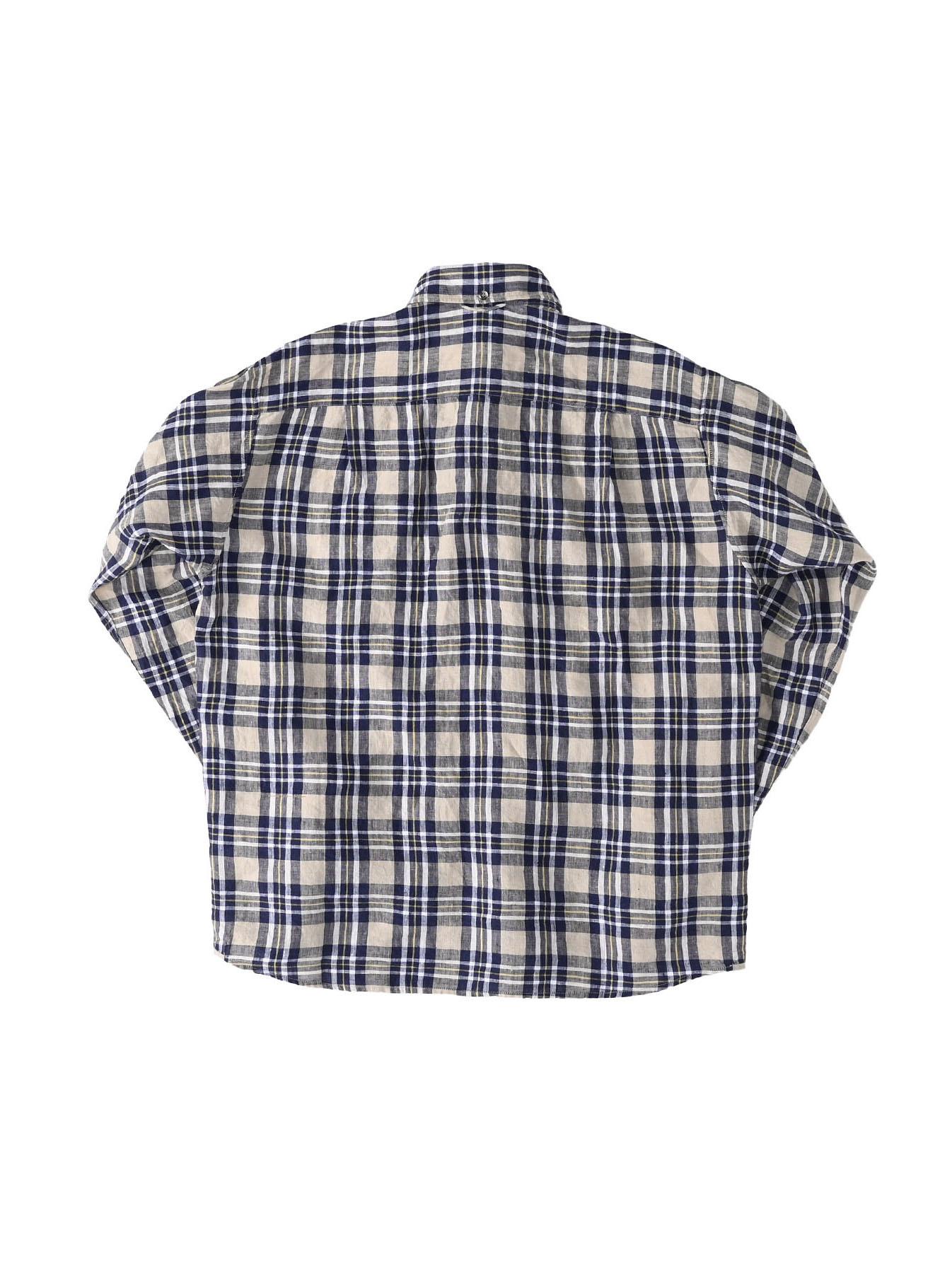 Indian Linen Madras 908 Ocean Button Down Shirt (0421)-7