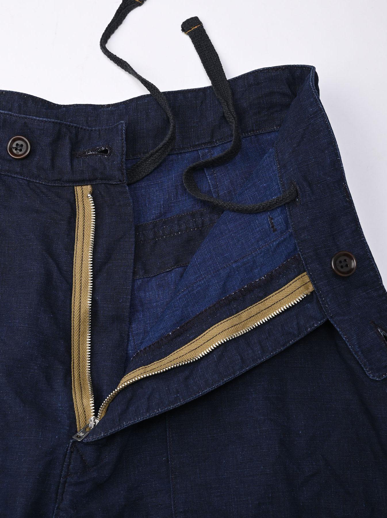 Indigo Linen 908 Baker Pants (0421)-6