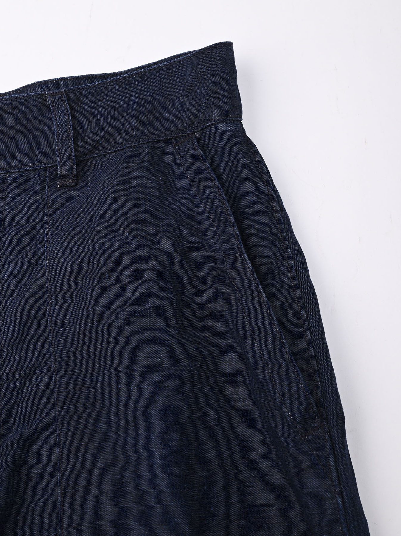 Indigo Linen 908 Baker Pants (0421)-8