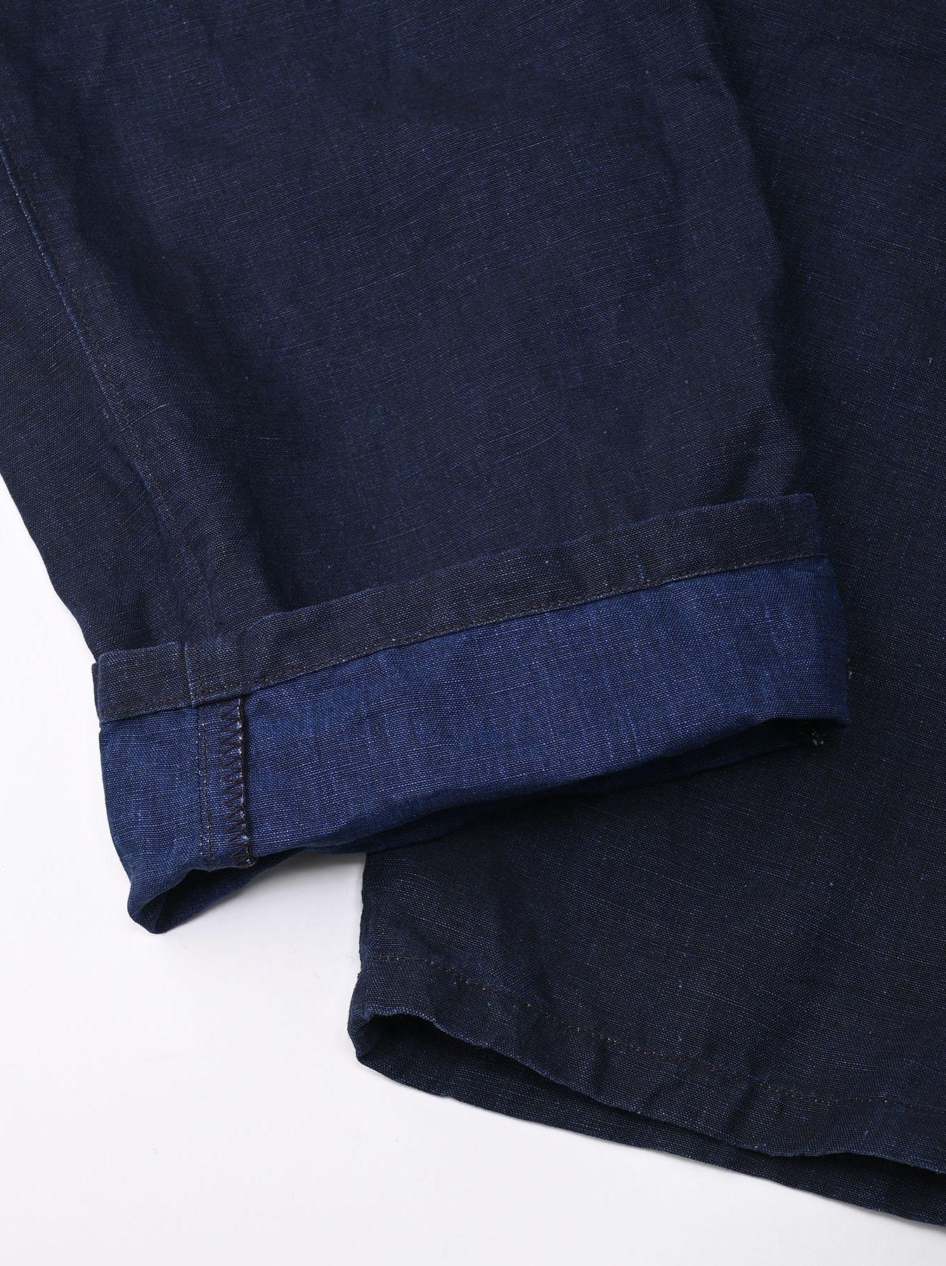Indigo Linen 908 Baker Pants (0421)-9