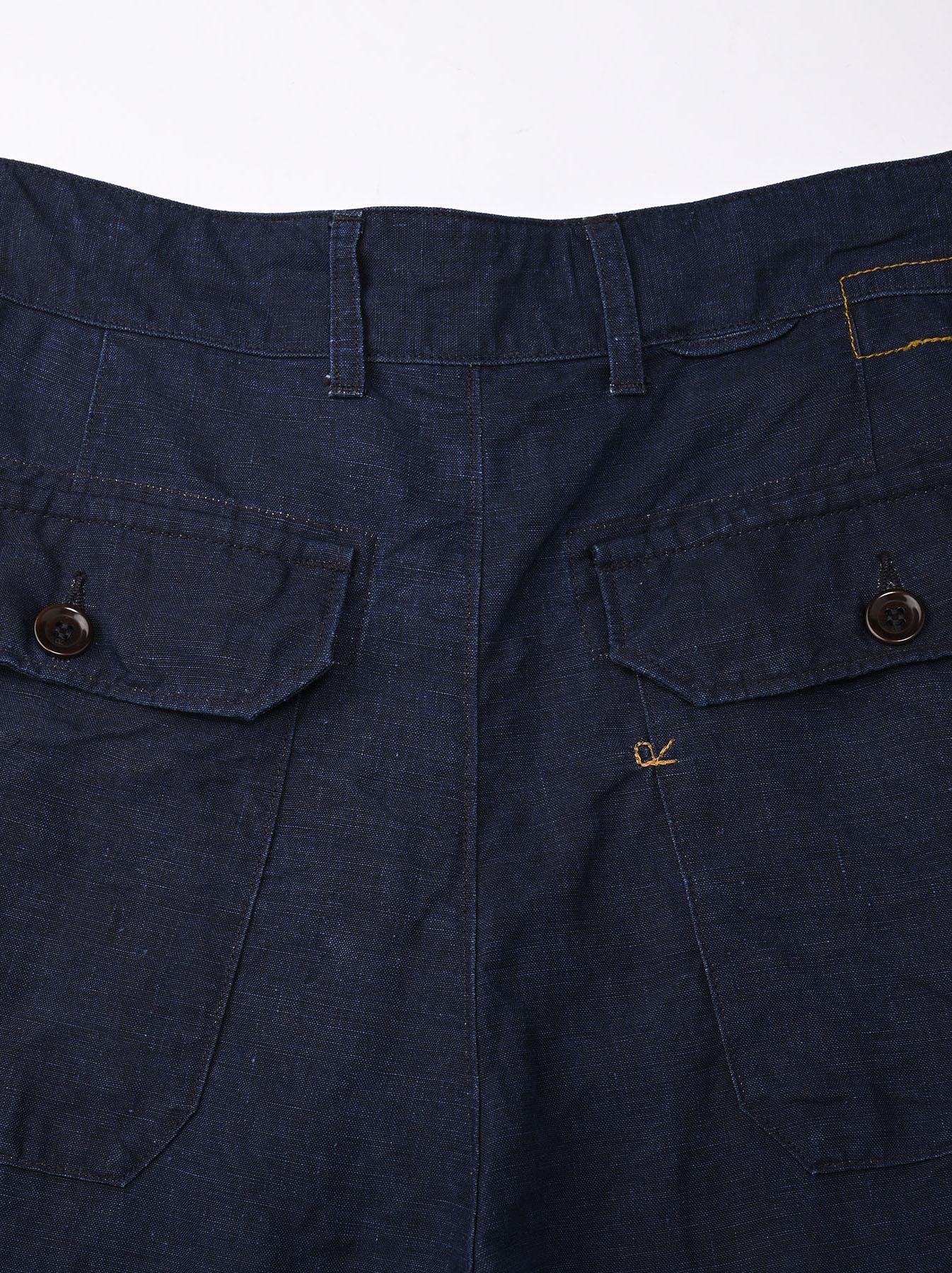 Indigo Linen 908 Baker Pants (0421)-10