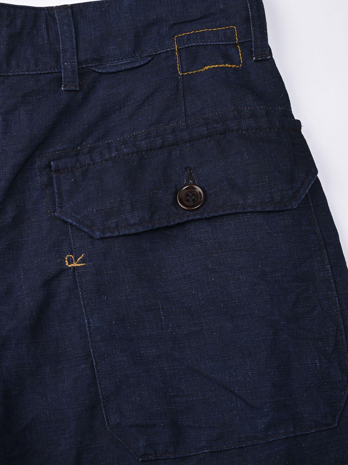 Indigo Linen 908 Baker Pants (0421)-11