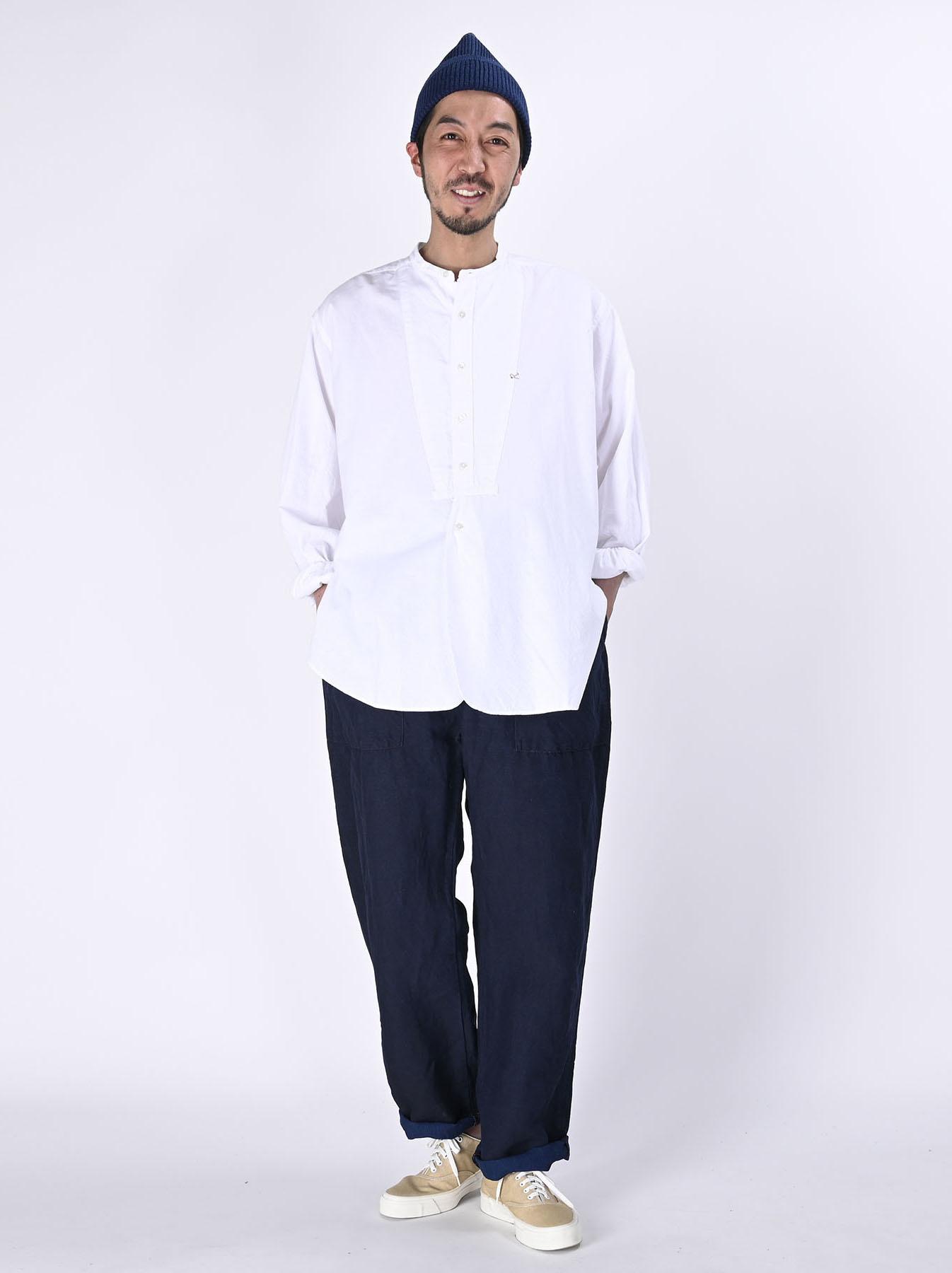 Indigo Linen 908 Baker Pants (0421)-2