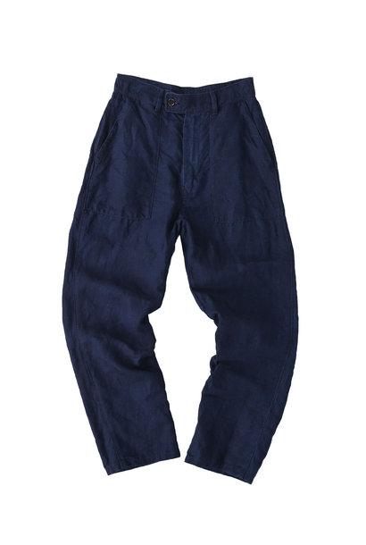 Indigo Linen 908 Baker Pants (0421)