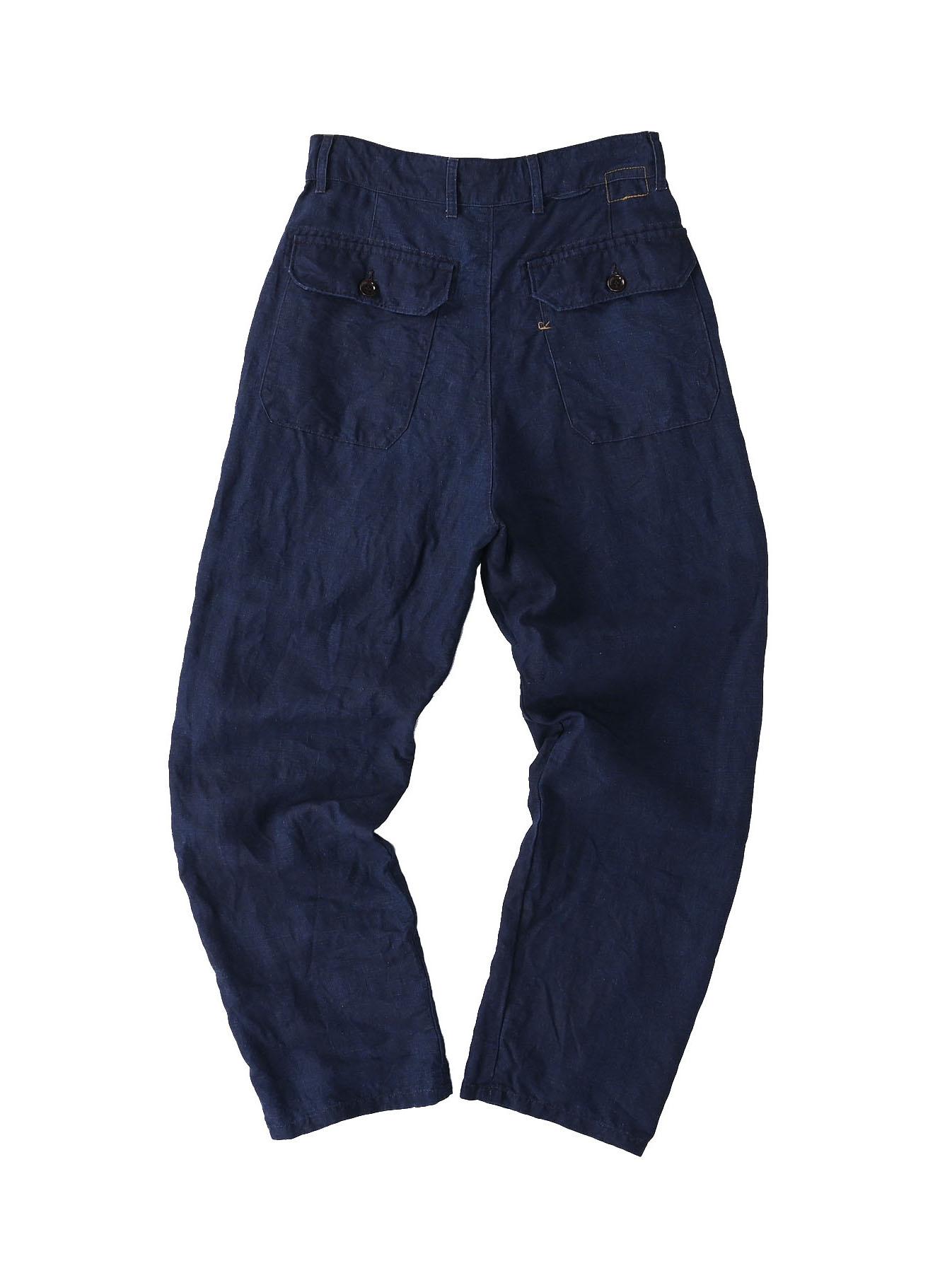 Indigo Linen 908 Baker Pants (0421)-7