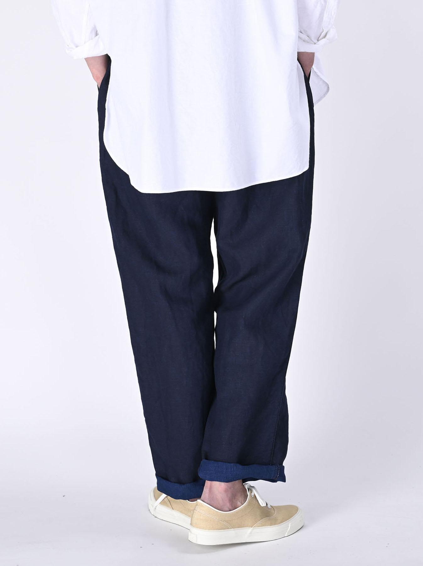 Indigo Linen 908 Baker Pants (0421)-5