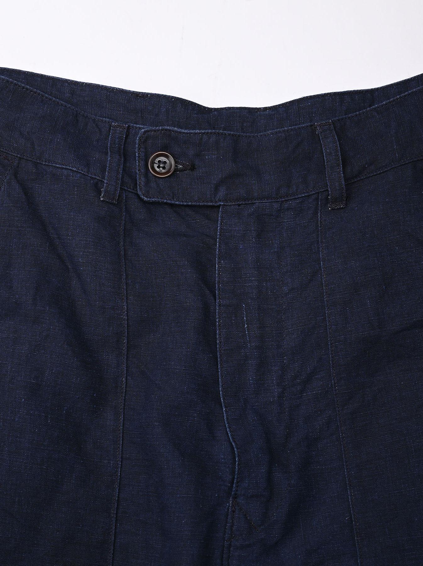 Indigo Linen 908 Baker Pants (0421)-12