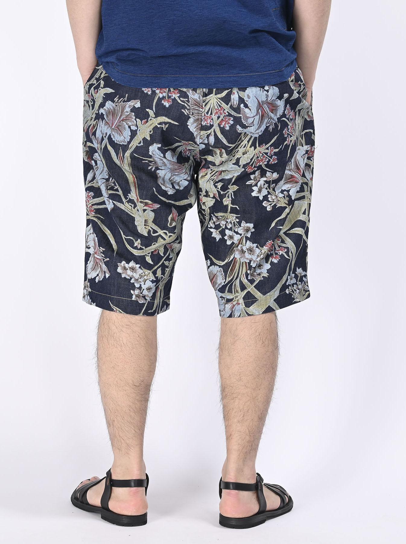 Cotton Lily Print Easy Popo Shorts (0521)-7