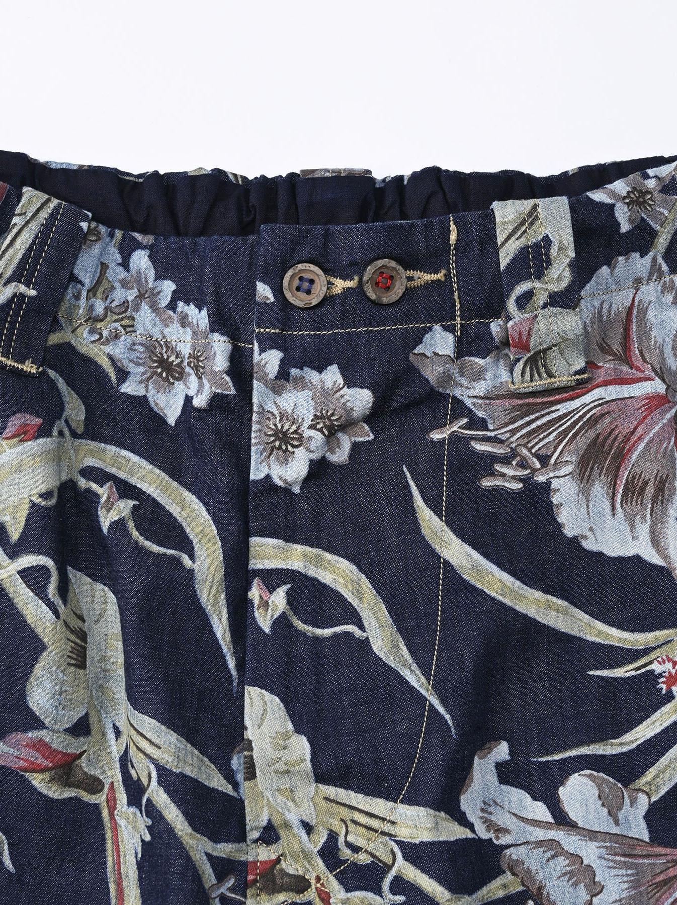 Cotton Lily Print Easy Popo Shorts (0521)-12