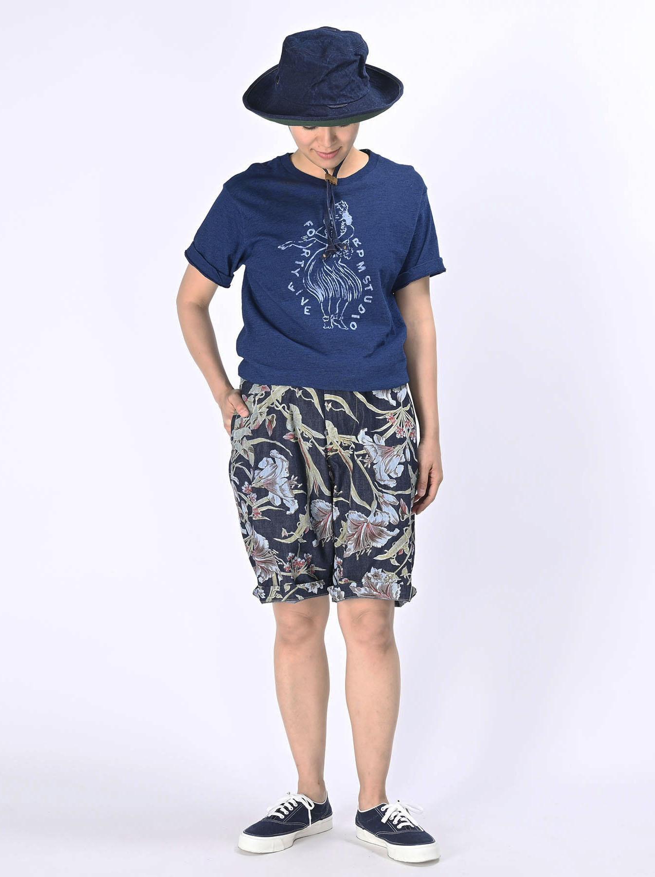 Cotton Lily Print Easy Popo Shorts (0521)-3