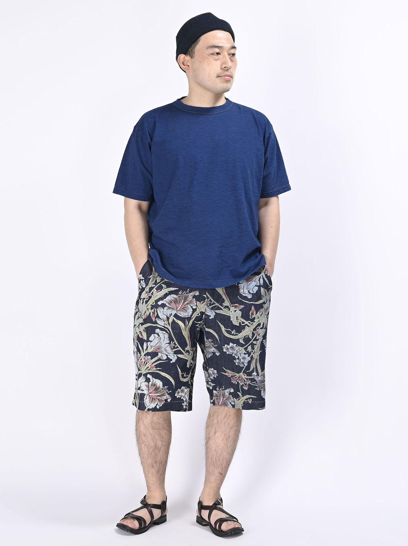 Cotton Lily Print Easy Popo Shorts (0521)-2