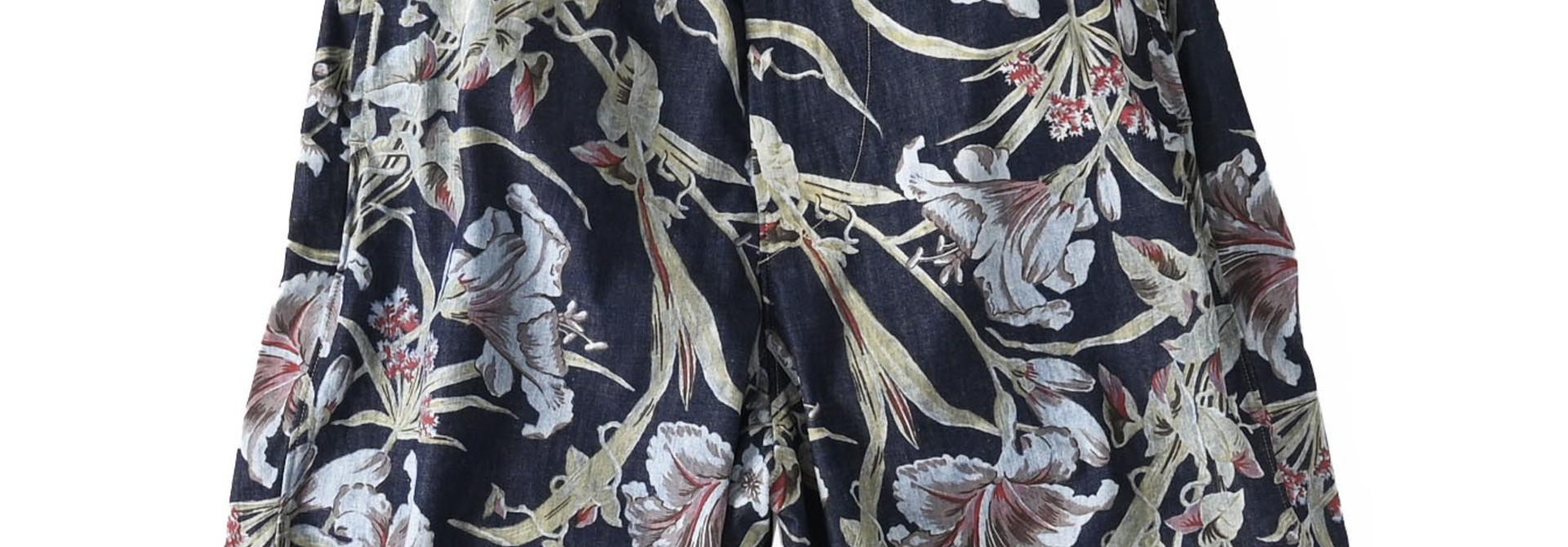 Cotton Lily Print Easy Popo Shorts (0521)
