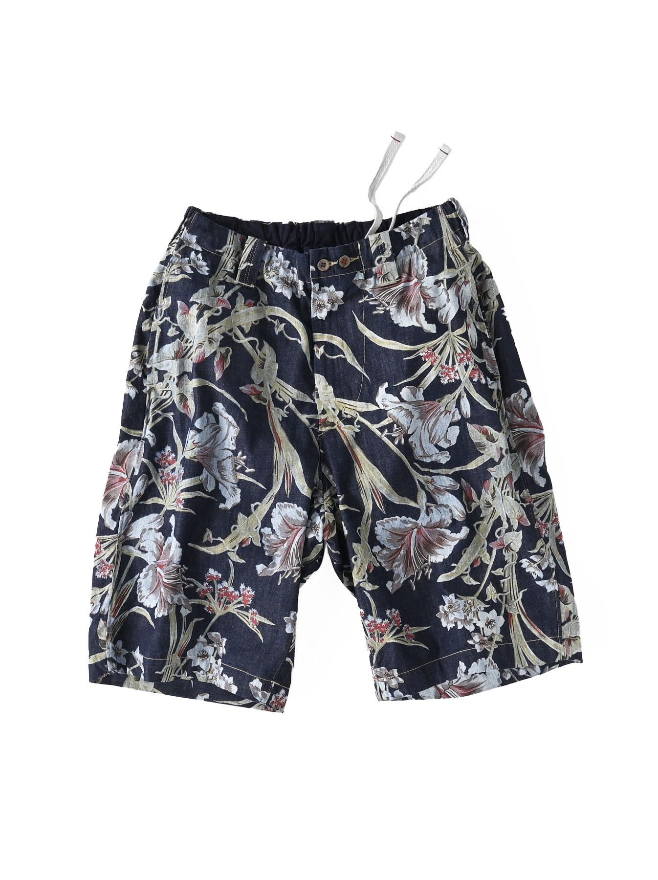 Cotton Lily Print Easy Popo Shorts (0521)-1