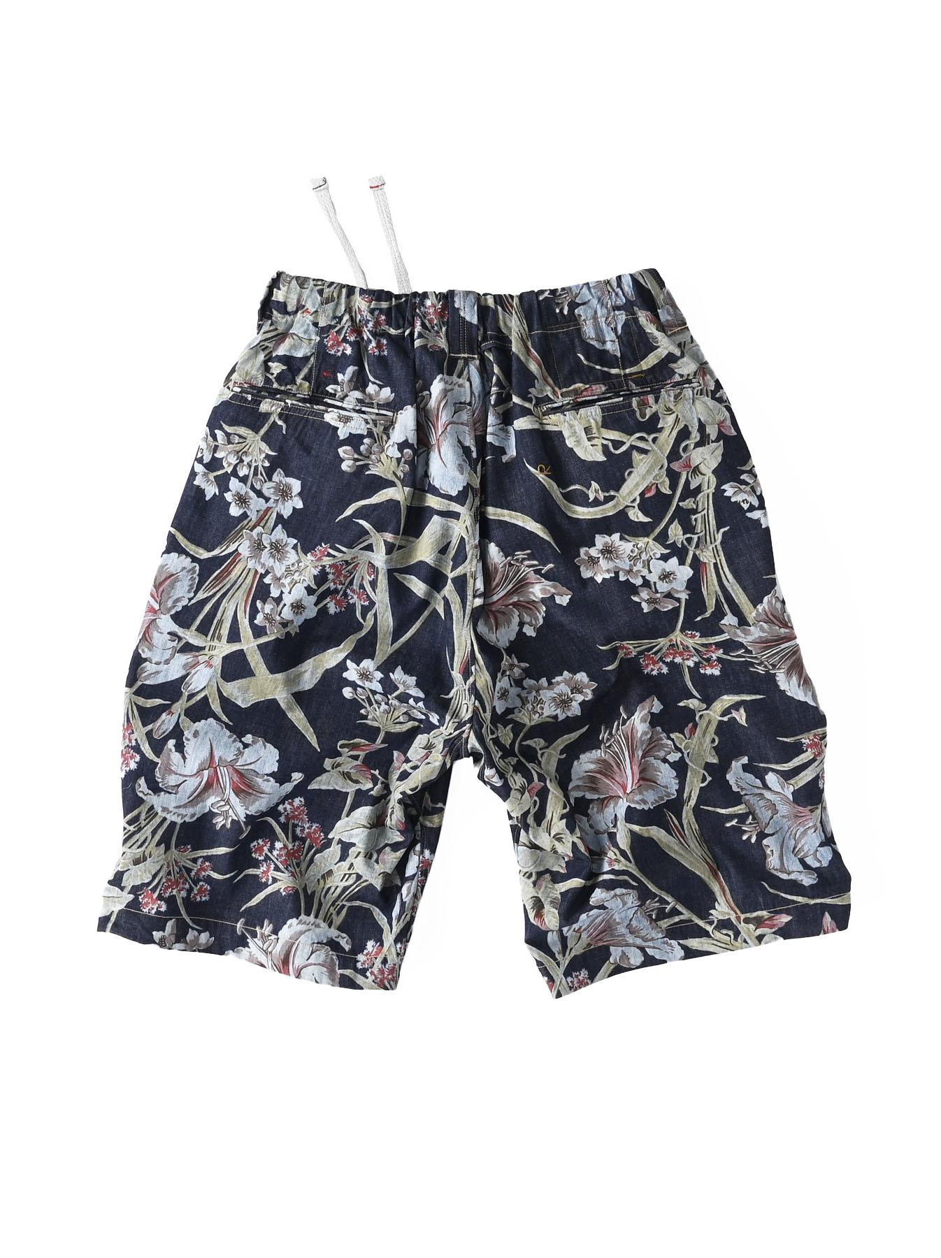 Cotton Lily Print Easy Popo Shorts (0521)-4