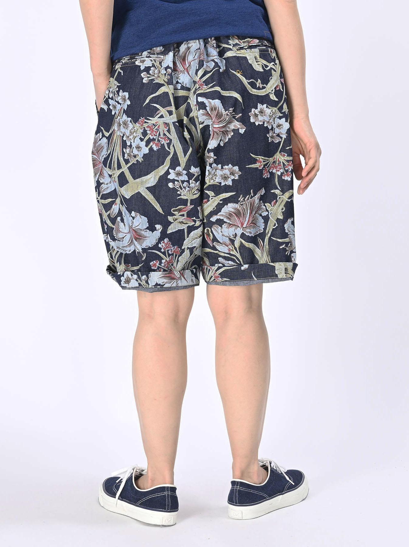 Cotton Lily Print Easy Popo Shorts (0521)-10