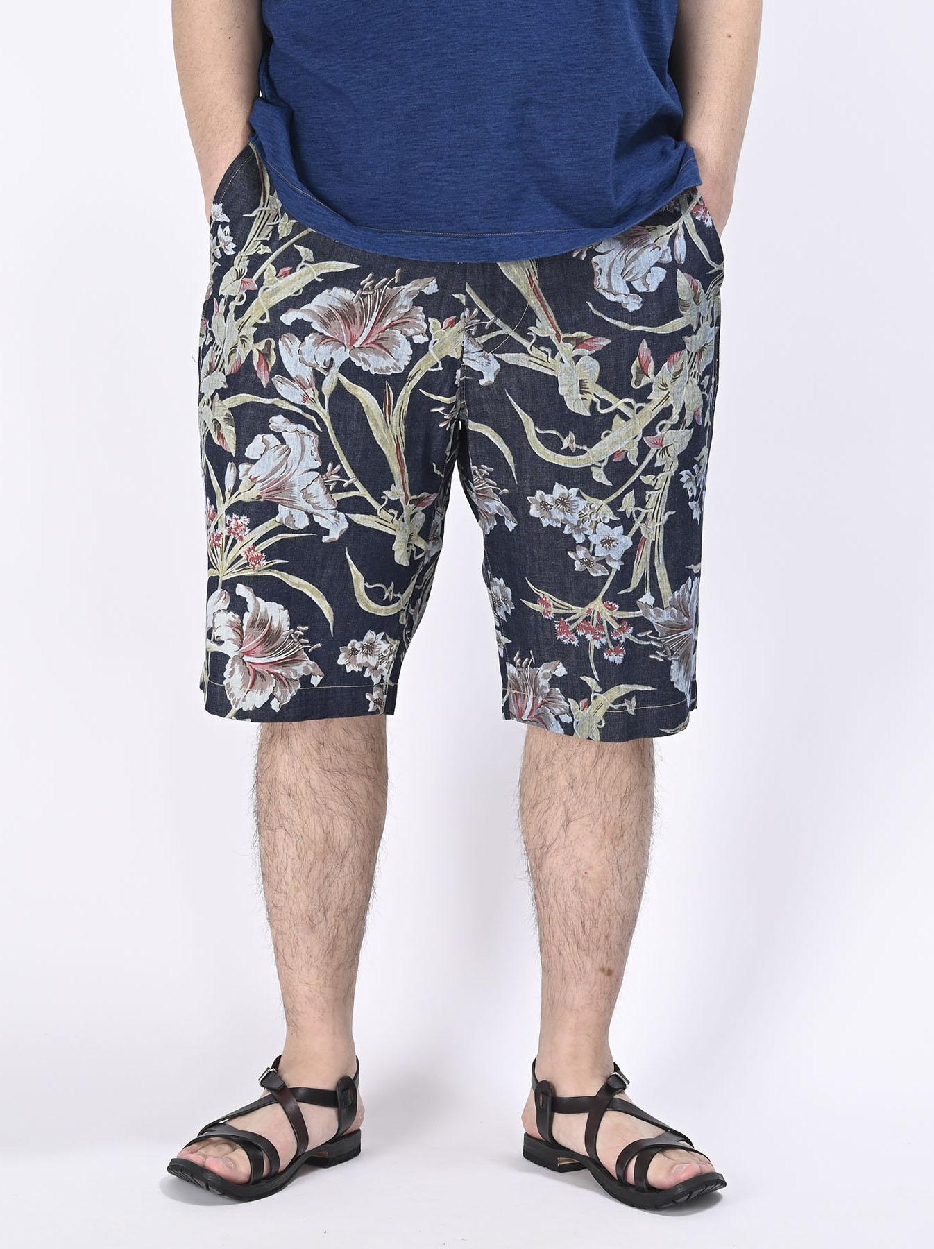 Cotton Lily Print Easy Popo Shorts (0521)-5
