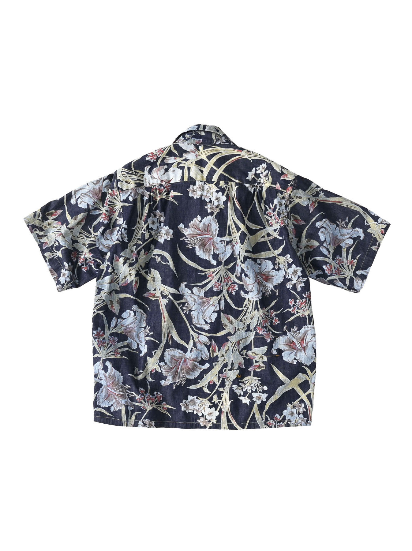 Cotton Lily Print Ocean Shirt (0521)-10