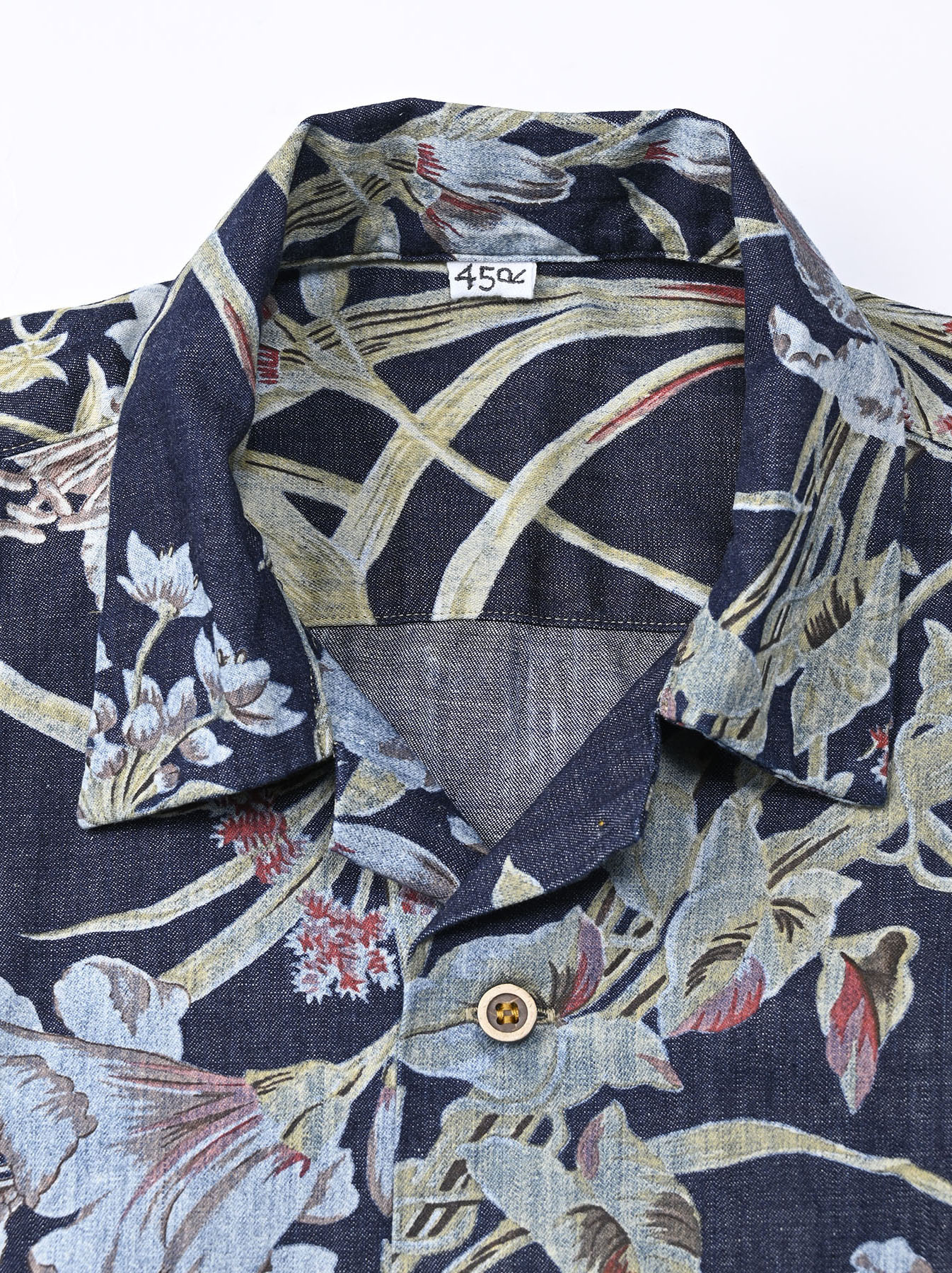 Cotton Lily Print Ocean Shirt (0521)-11