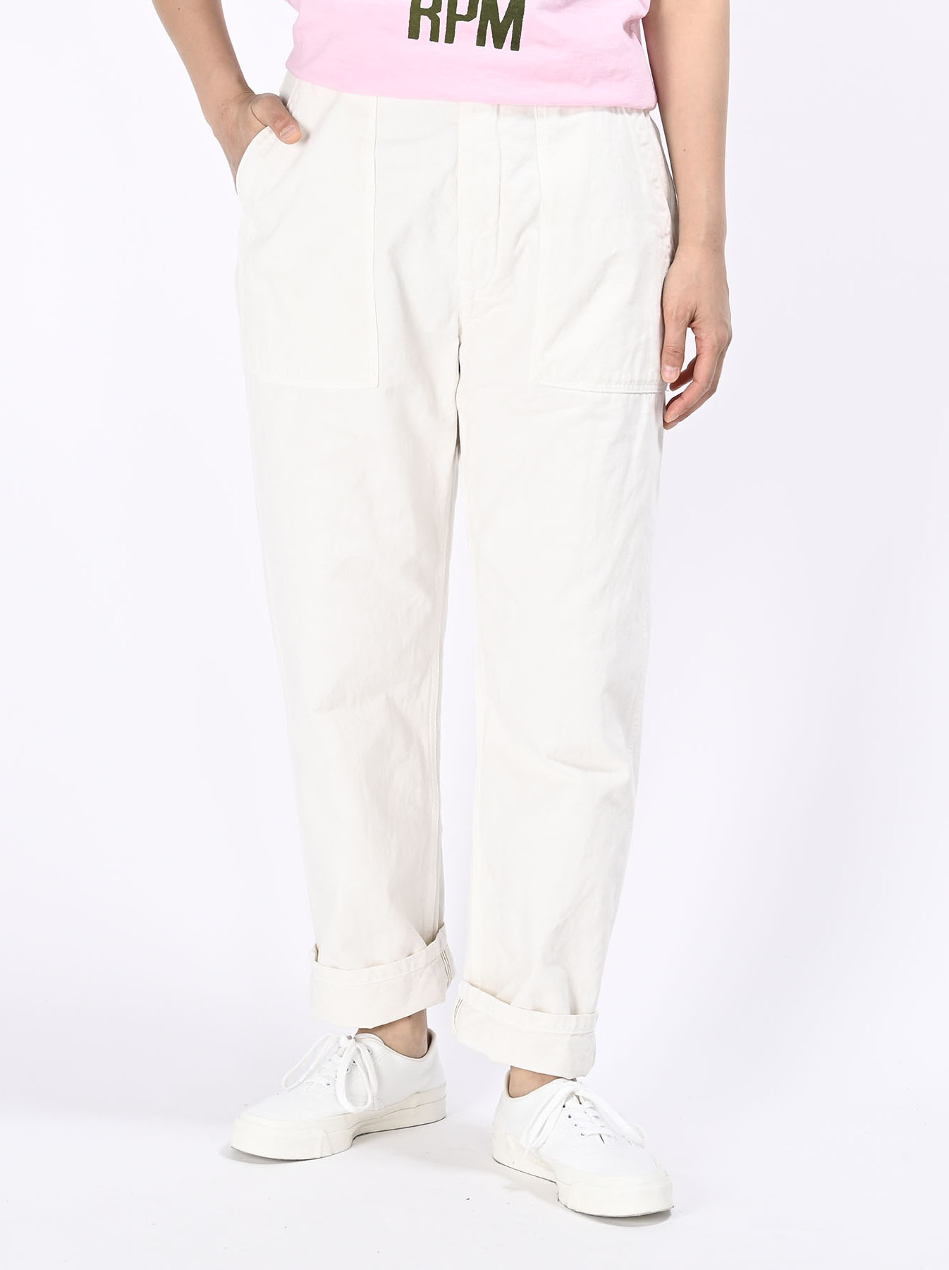Yacht Cotton White 908 Baker Pants (0521)-5
