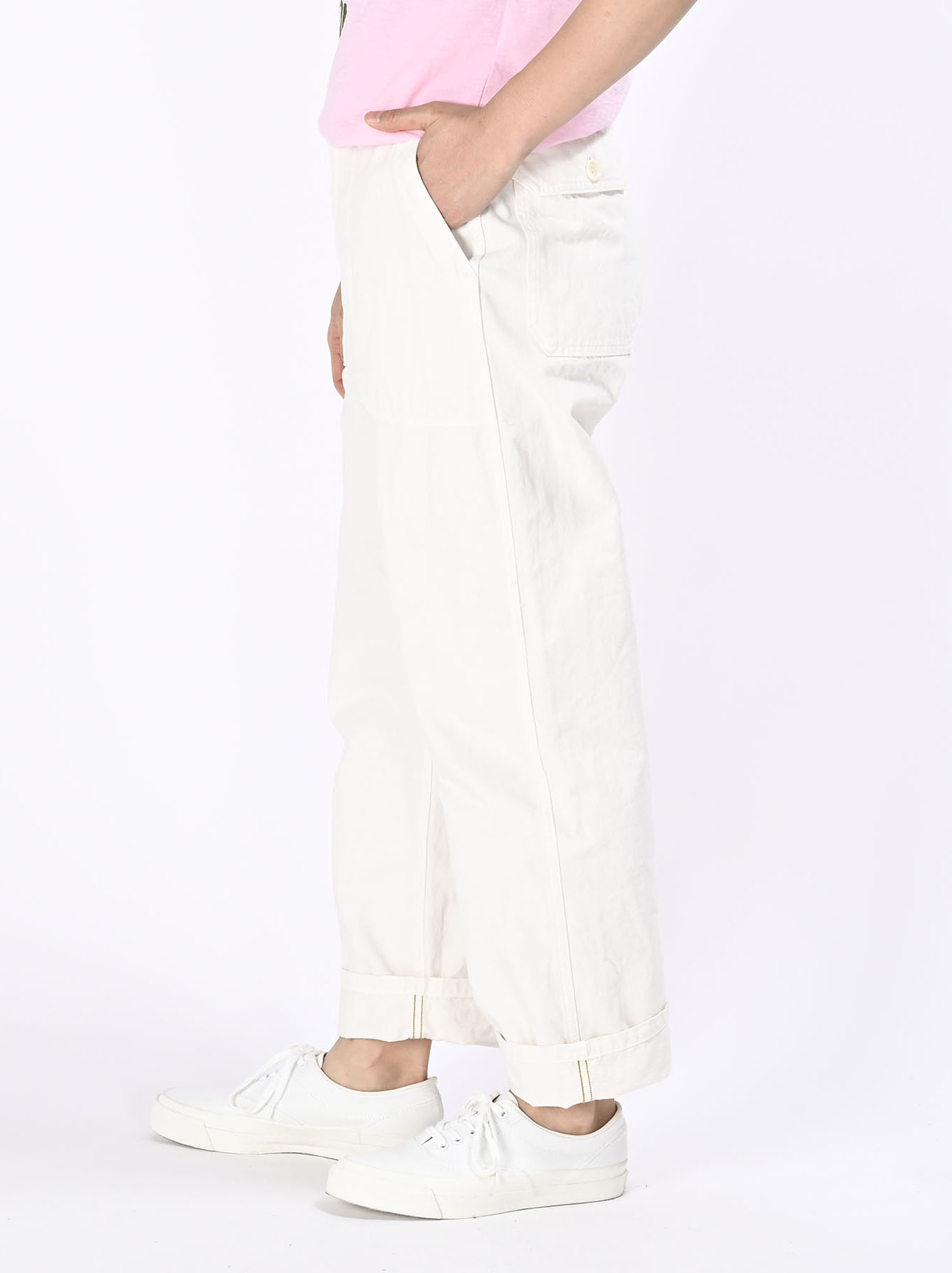 Yacht Cotton White 908 Baker Pants (0521)-6