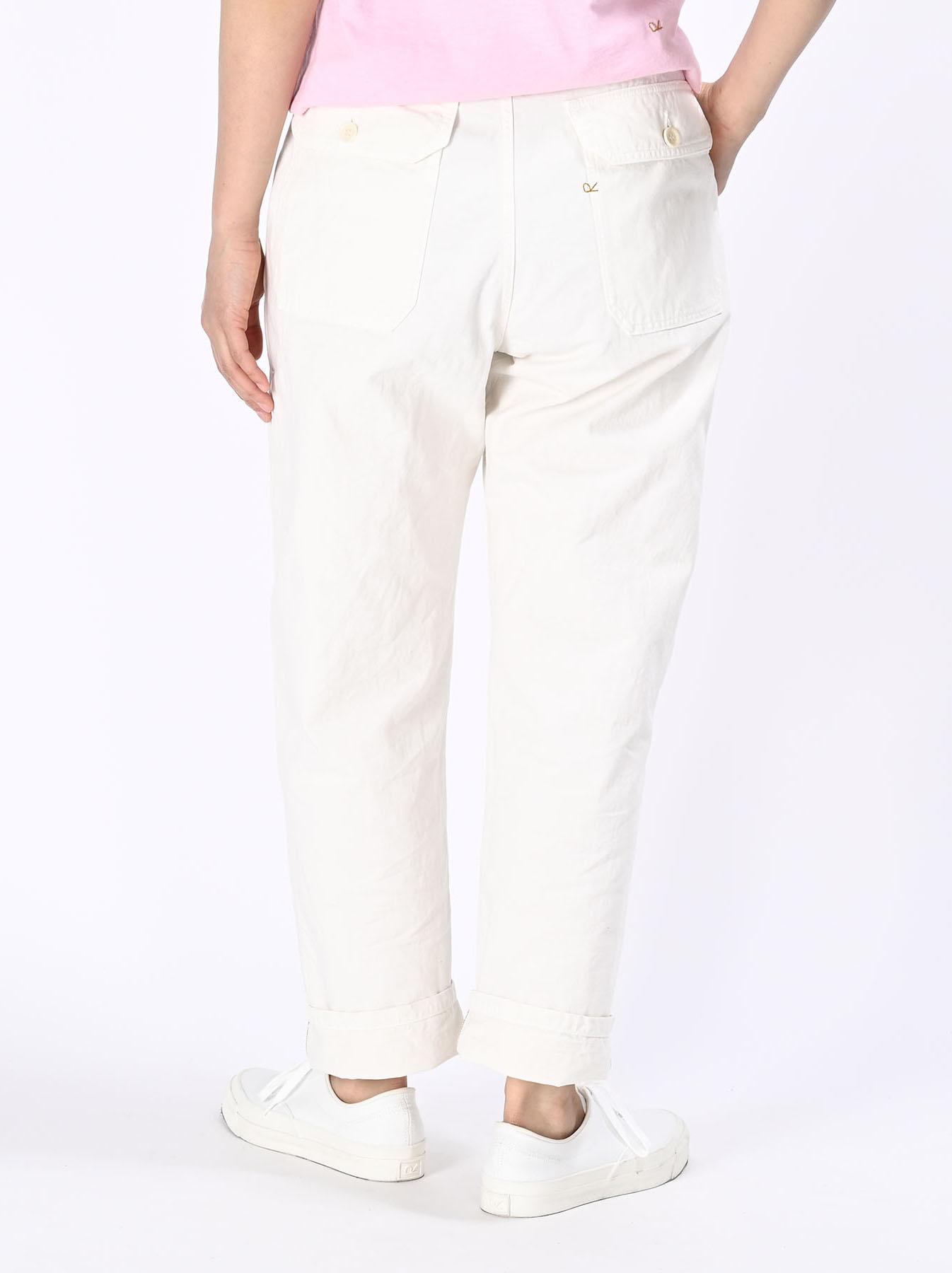 Yacht Cotton White 908 Baker Pants (0521)-7