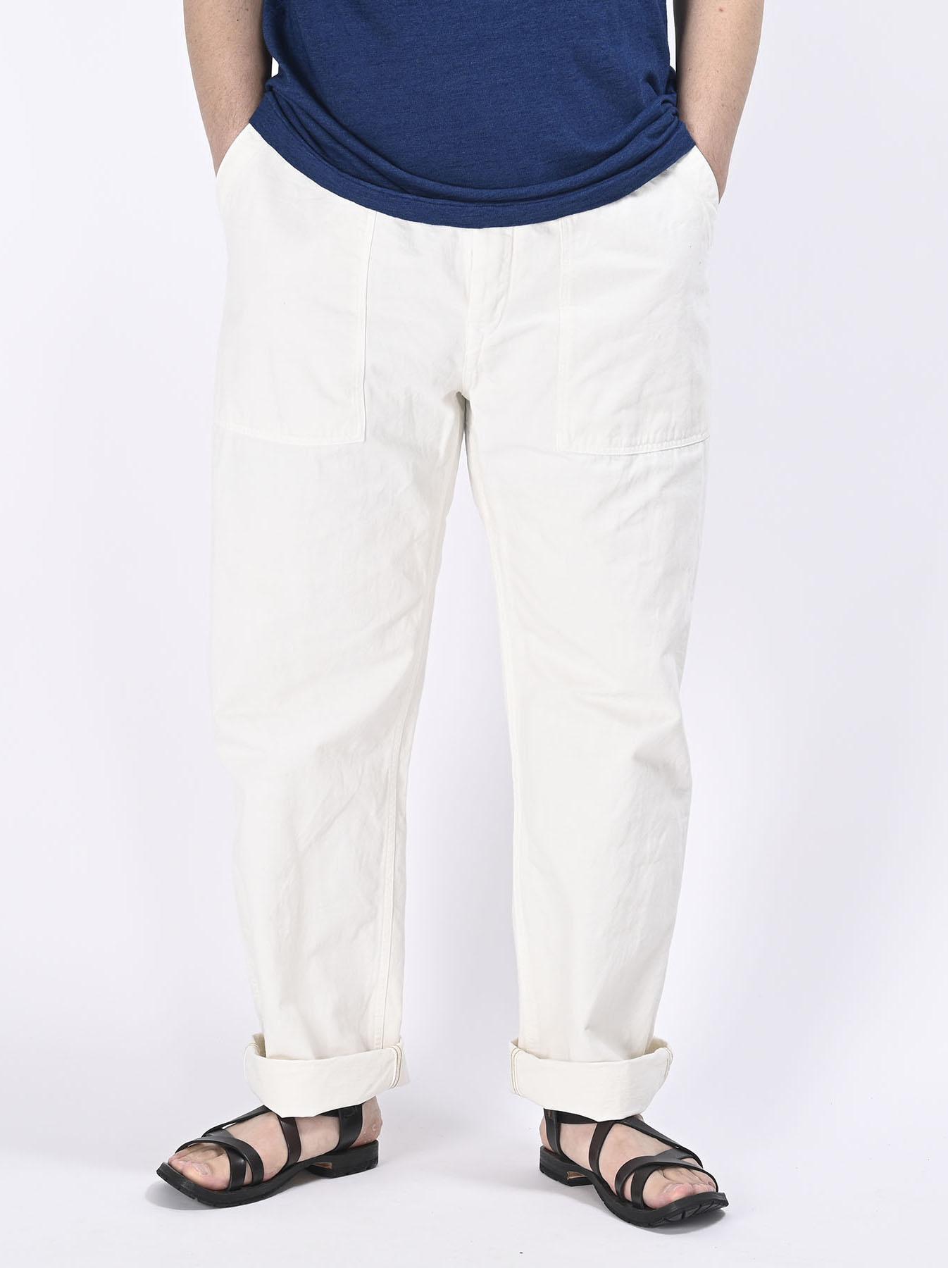 Yacht Cotton White 908 Baker Pants (0521)-8