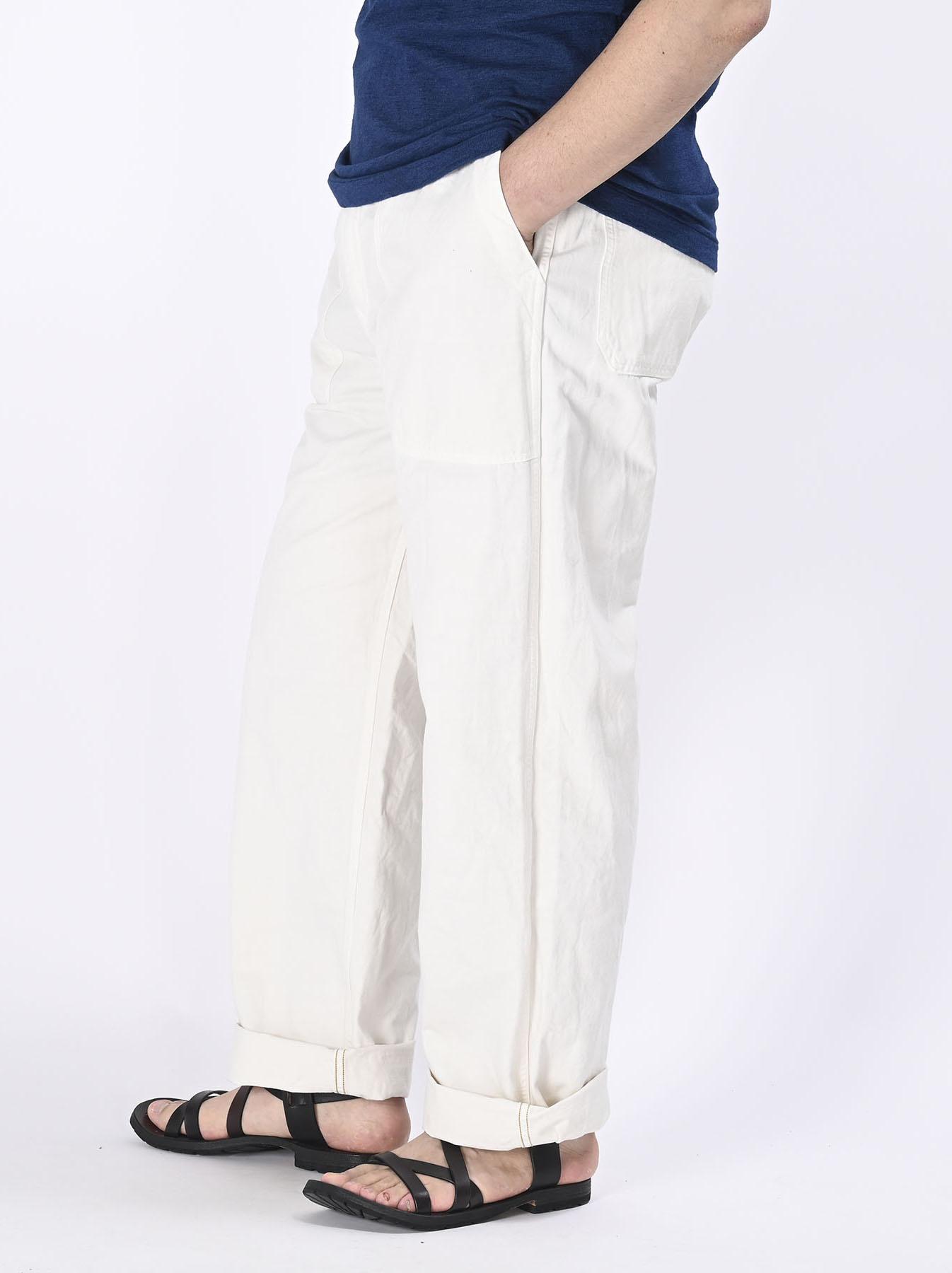 Yacht Cotton White 908 Baker Pants (0521)-9