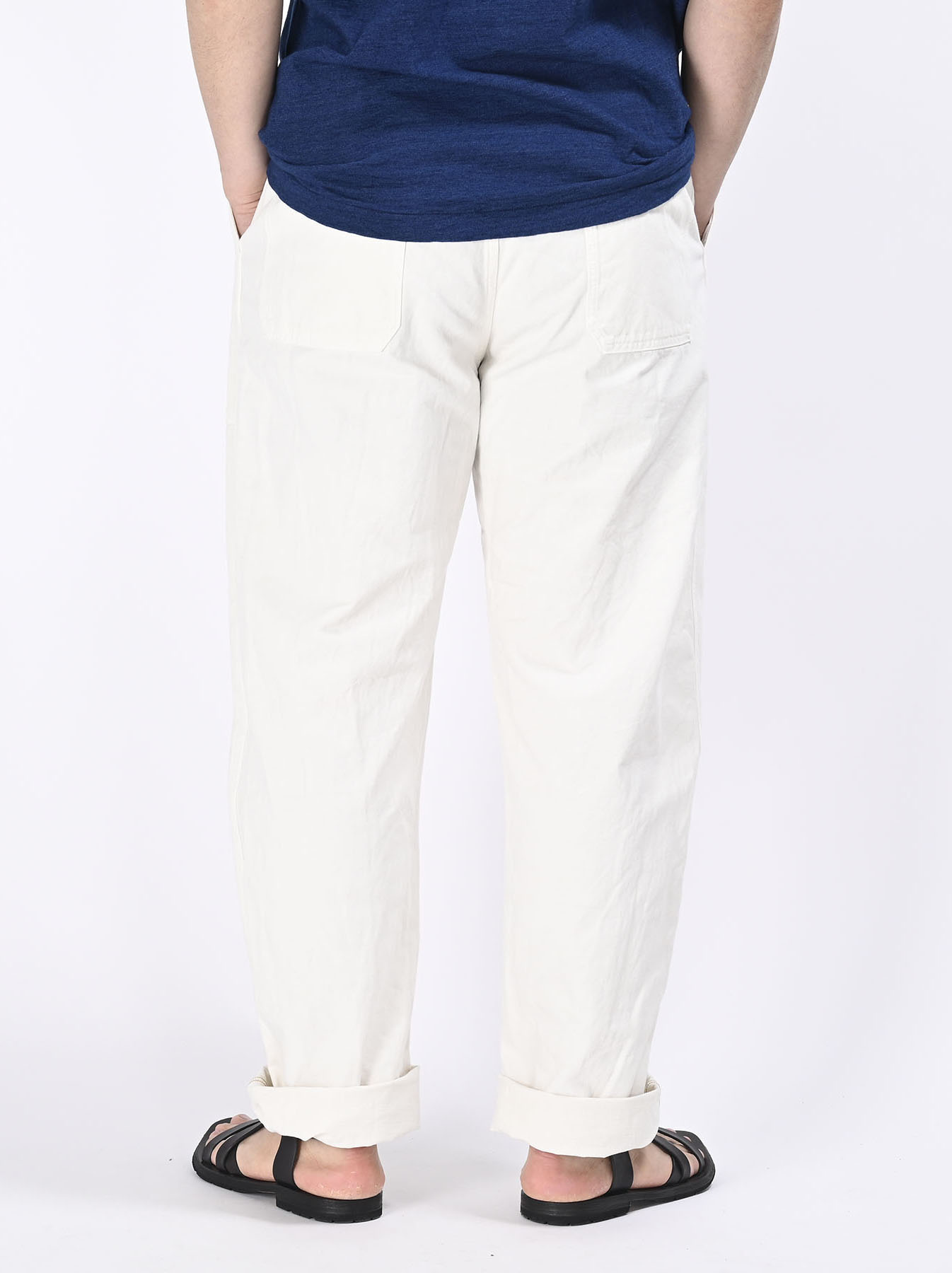 Yacht Cotton White 908 Baker Pants (0521)-10