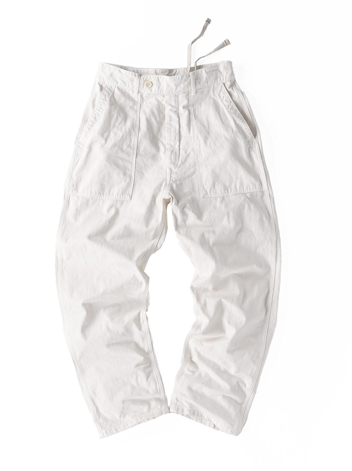 Yacht Cotton White 908 Baker Pants (0521)-1