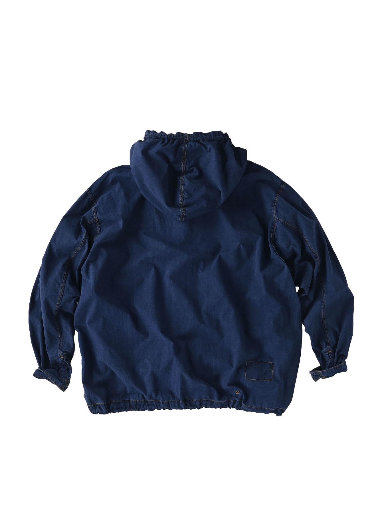 Indigo Tapet Damo Cotton On The Beach Hoodie Shirt-10