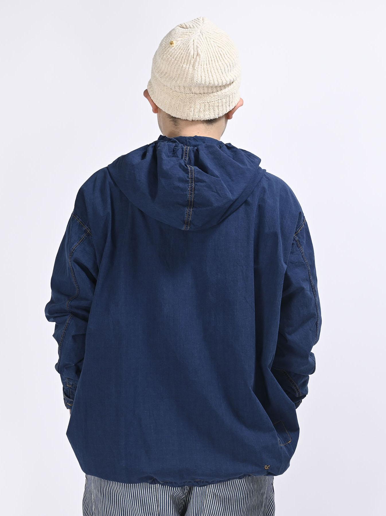 Indigo Tapet Damo Cotton On The Beach Hoodie Shirt-9