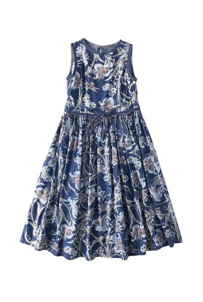 Cotton Lily Print Dress (0521)