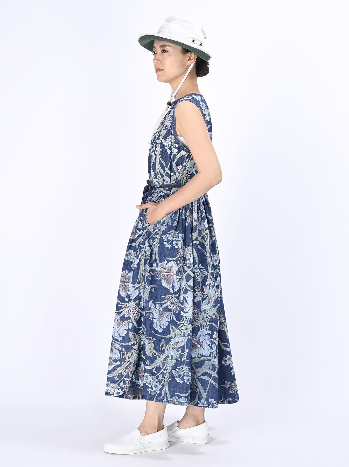 Cotton Lily Print Dress (0521)-3