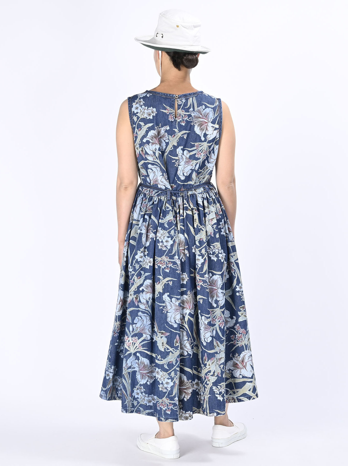 Cotton Lily Print Dress (0521)-4