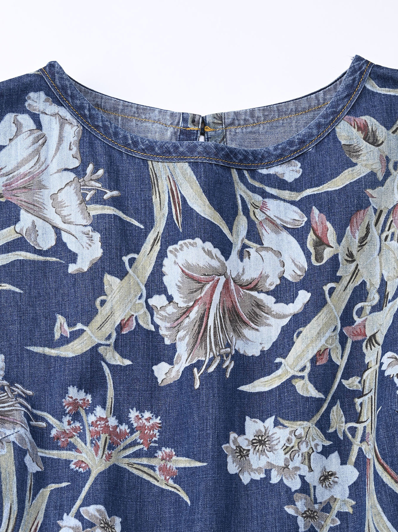 Cotton Lily Print Dress (0521)-5