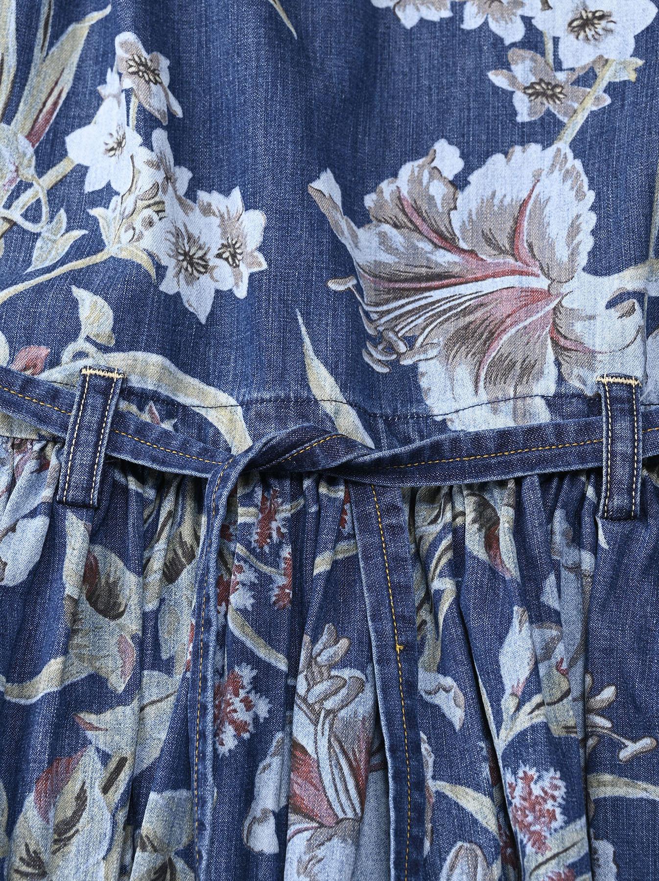 Cotton Lily Print Dress (0521)-8