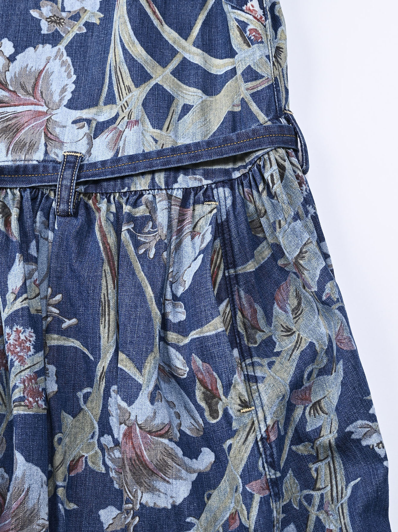 Cotton Lily Print Dress (0521)-9