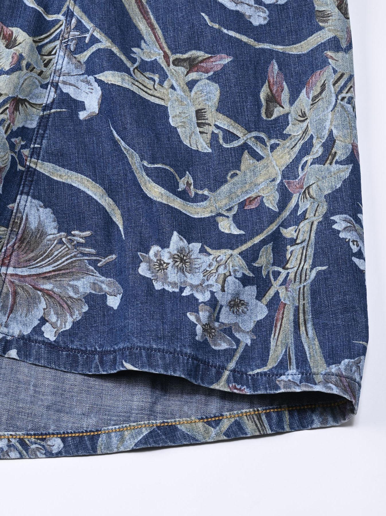 Cotton Lily Print Dress (0521)-10