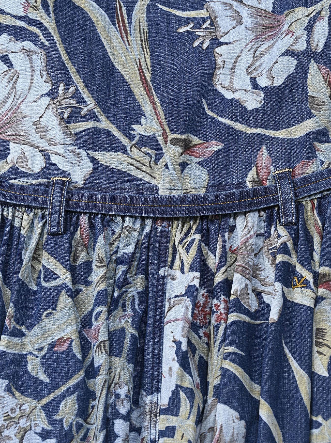 Cotton Lily Print Dress (0521)-11