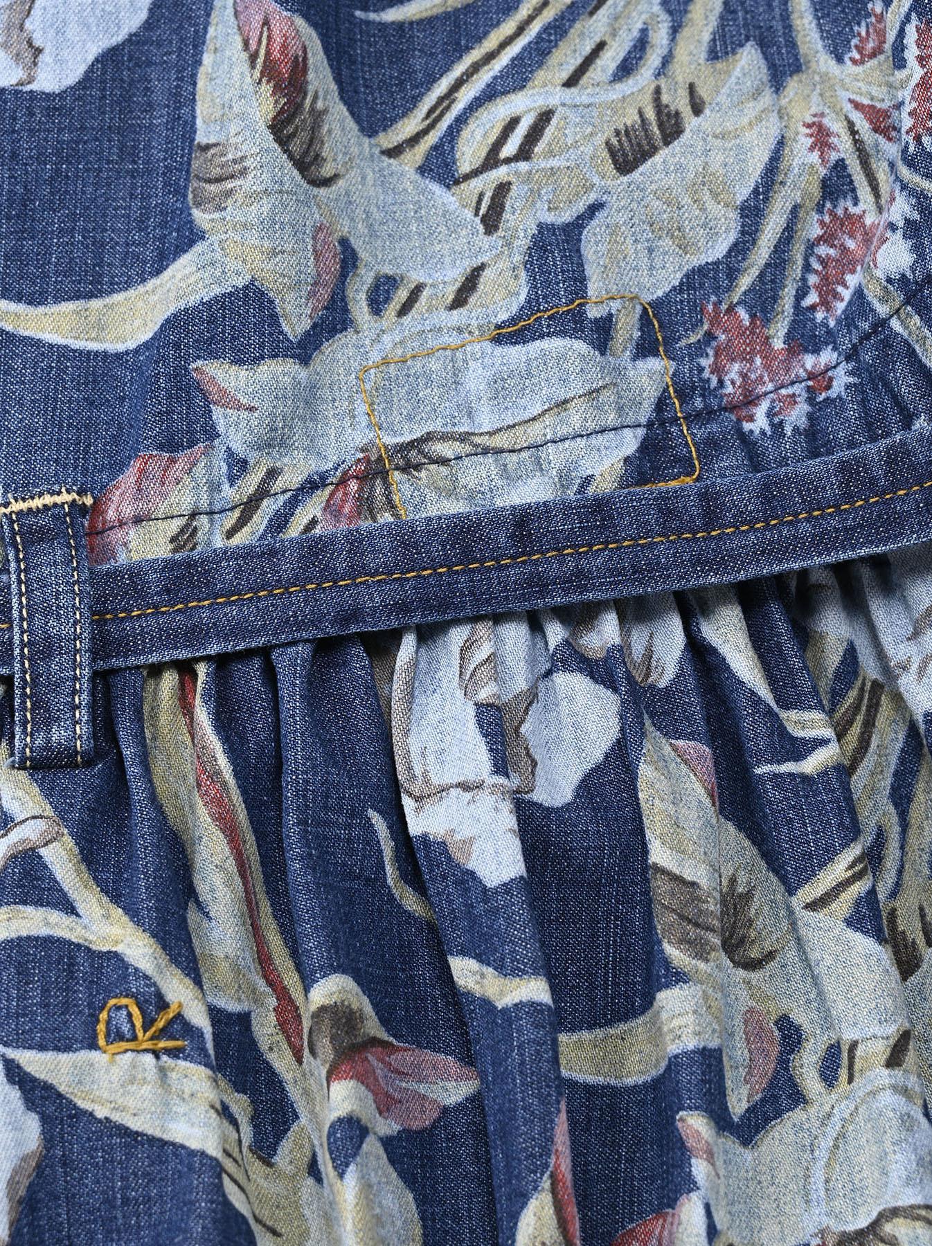Cotton Lily Print Dress (0521)-12