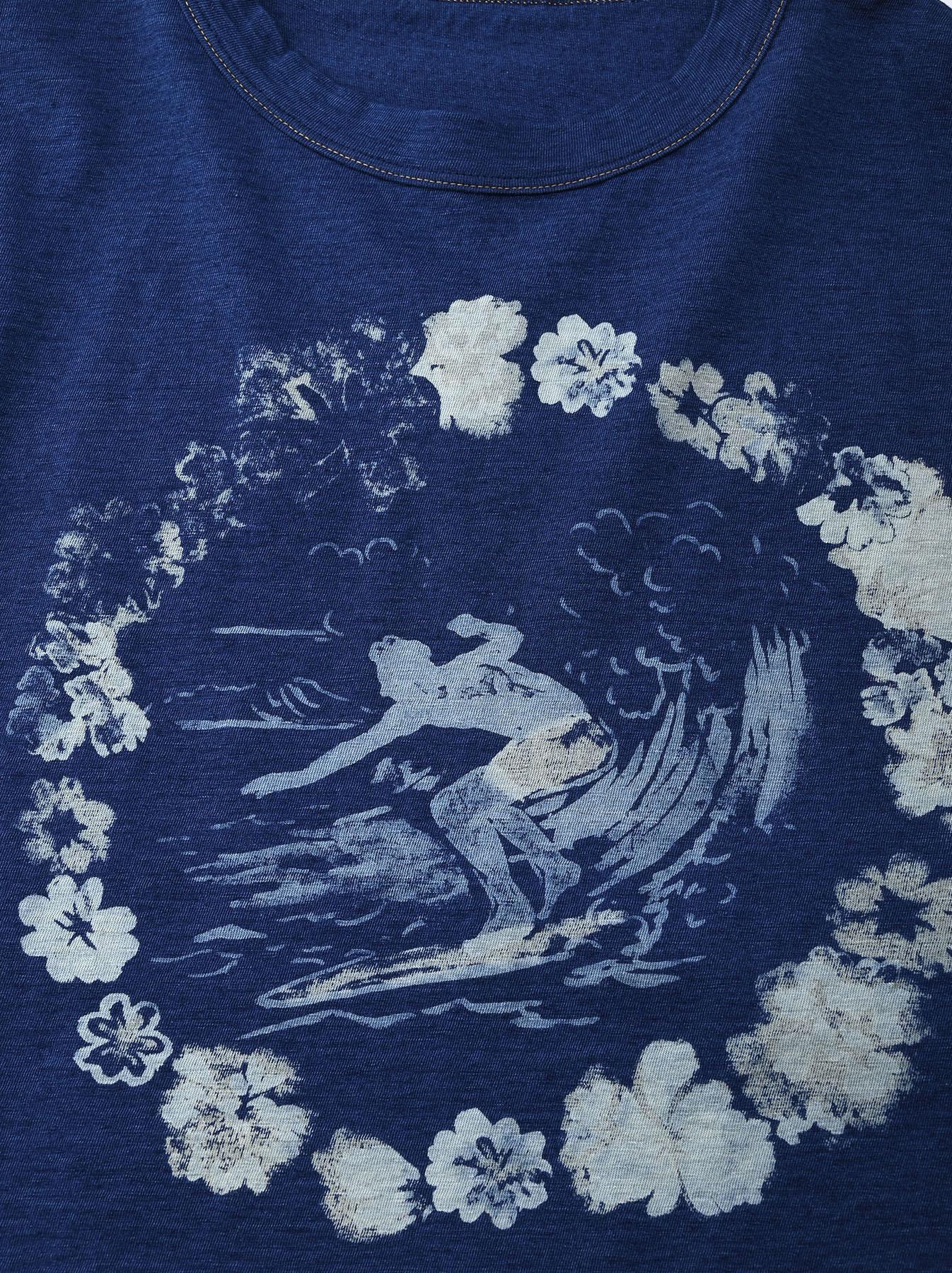Indigo Lei Surf Print 908 Ocean T-Shirt (0521)-8